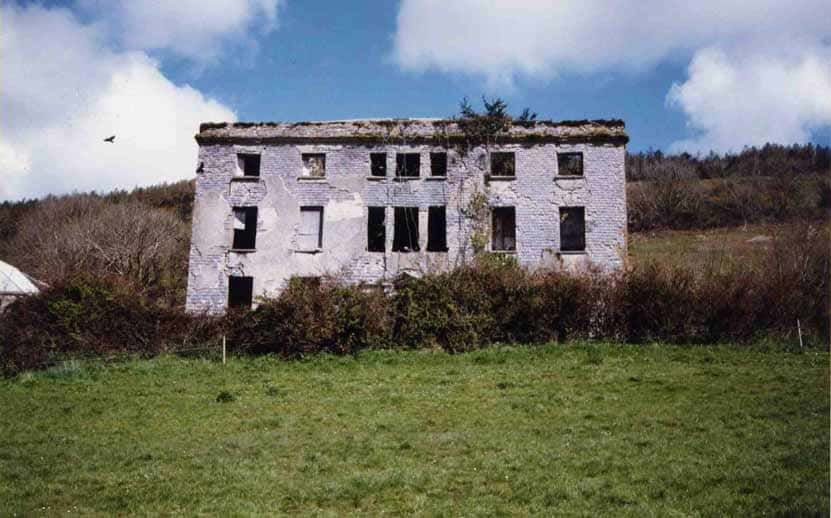 The Daunt house today at Gortigrenane in county Cork, dated 1817. It is attributed to Abraham Hargrave Sr., and was destroyed in the Troubles.