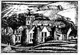 Owlpen Manor, etching by Joseph Webb, about 1930
